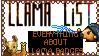 Llama List Stamp