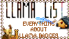 Llama List Stamp by wintercool612