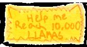 10,000 Llamas Stamp