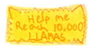 10,000 Llamas Stamp by wintercool612
