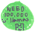 100,000 Llamas Stamp