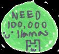 100,000 Llamas Stamp by wintercool612