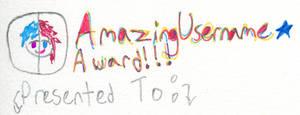 Amazing Username Award
