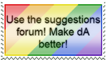 Suggestions Forum Stamp by CoolKaius