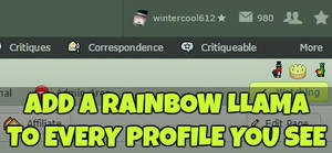 Rainbow Llama Badge Browser Script by CoolKaius