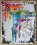 Rainbow Of Small Trash Bits
