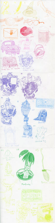 Harry Potter x Huevember Art Challenge