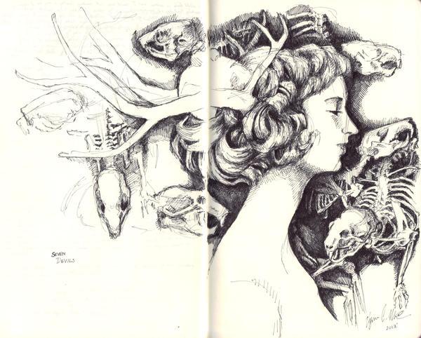 Seven Devils- Concept sketch by WallByrd