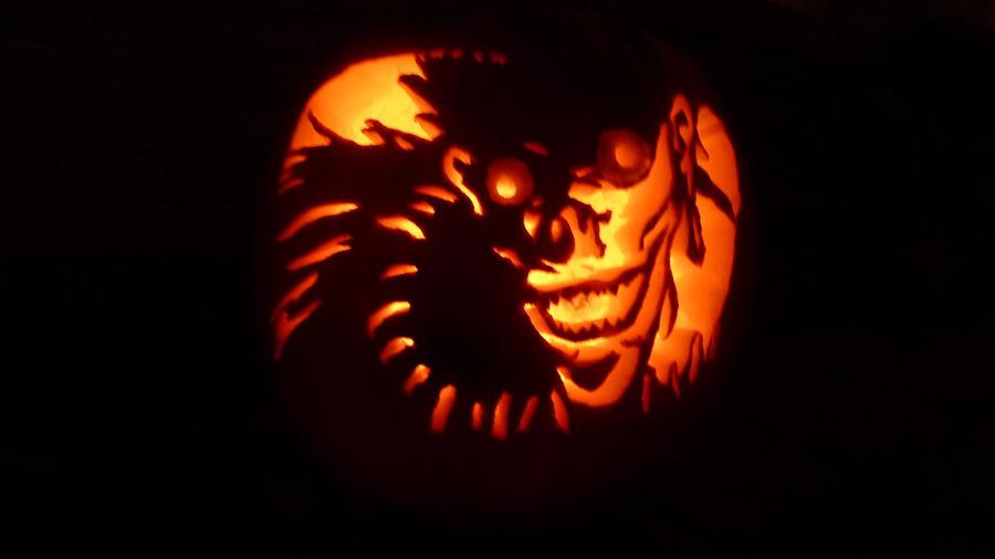 Ryuk pumpkin carving by bankotsu on deviantart