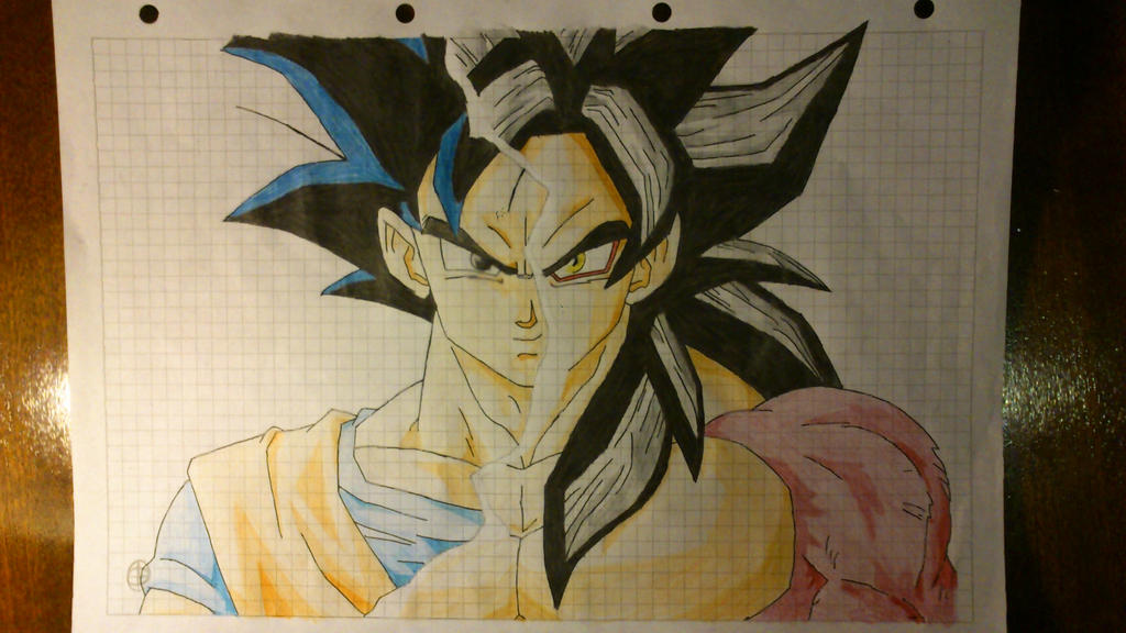 Goku normal and Super Saiyan 4 by Smokus6151 on DeviantArt