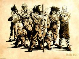 Dragon Ball Z en sepia by azeta