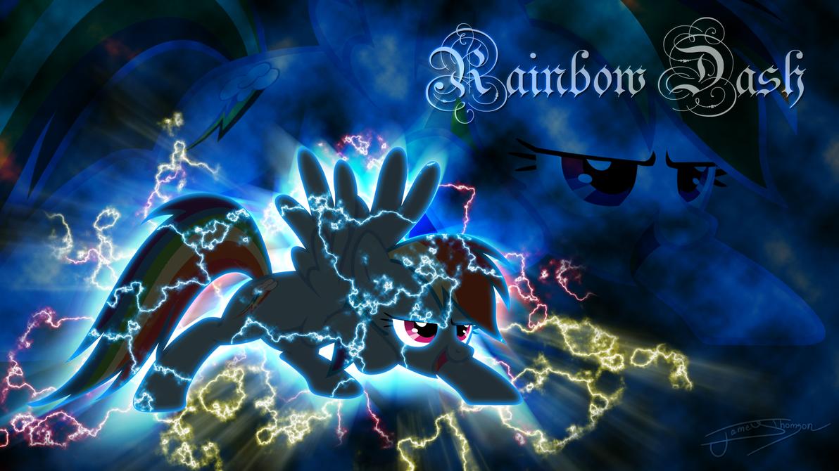 Rainbow Dash (Lightning Theme) by Jamey4