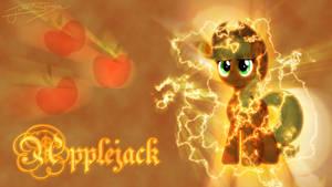 Applejack (Lightning Background)