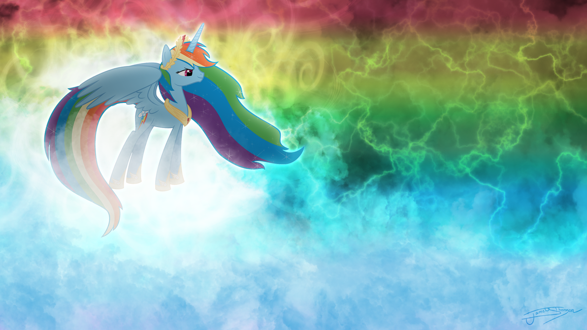 Princess Rainbow Dash - The Alicorn Goddess by Jamey4 on ...