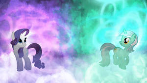 Lyra and Rarity - Unicorn Unity of Magic by Jamey4