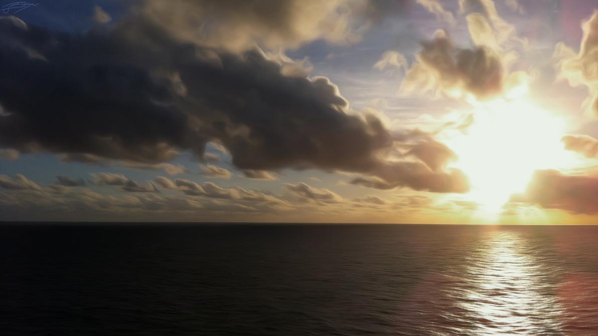 Atlantic Sunset by Jamey4