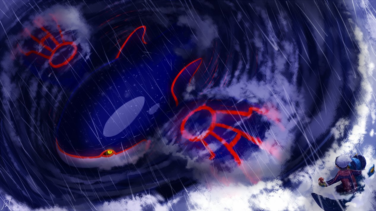 Primal Kyogre Wallpaper pokemon of the day gen 3! kyogre! the leviathan of the sea