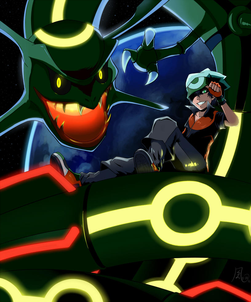 Yuuki And Rayquaza By The-Blue-Wind On DeviantArt