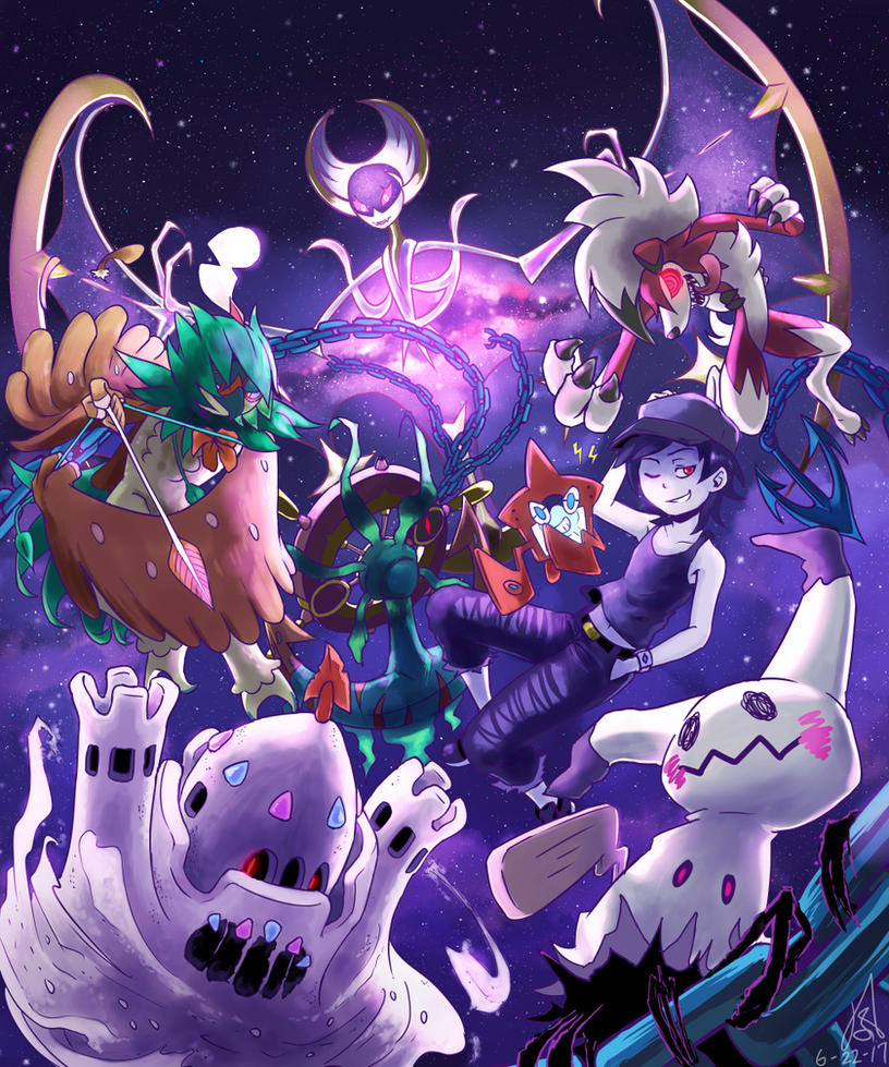 My Pokemon Moon Team - Team Eclipse by The-Blue-Wind
