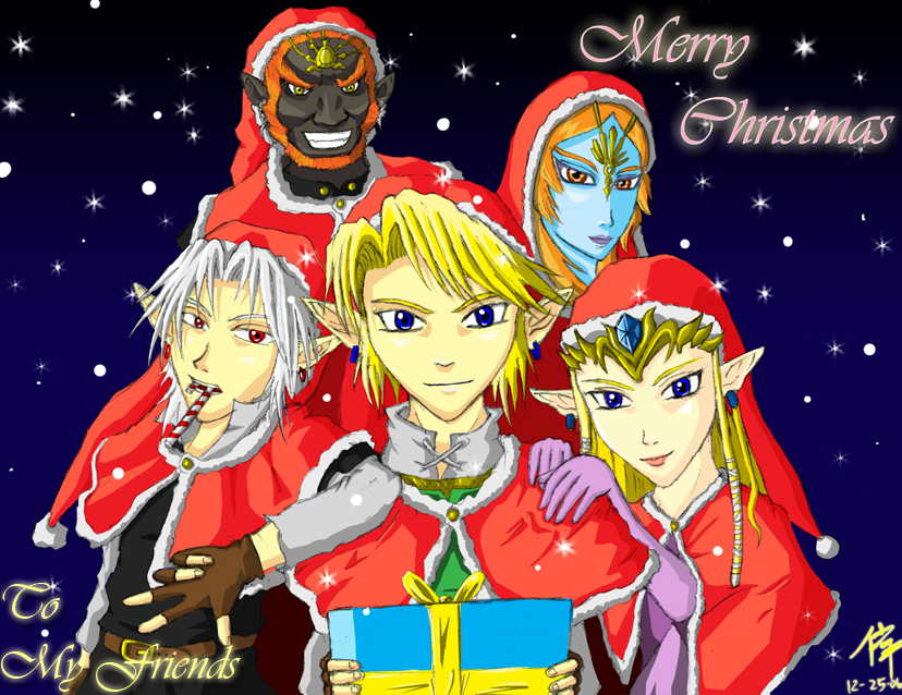 Zelda Merry Christmas by The-Blue-Wind on DeviantArt