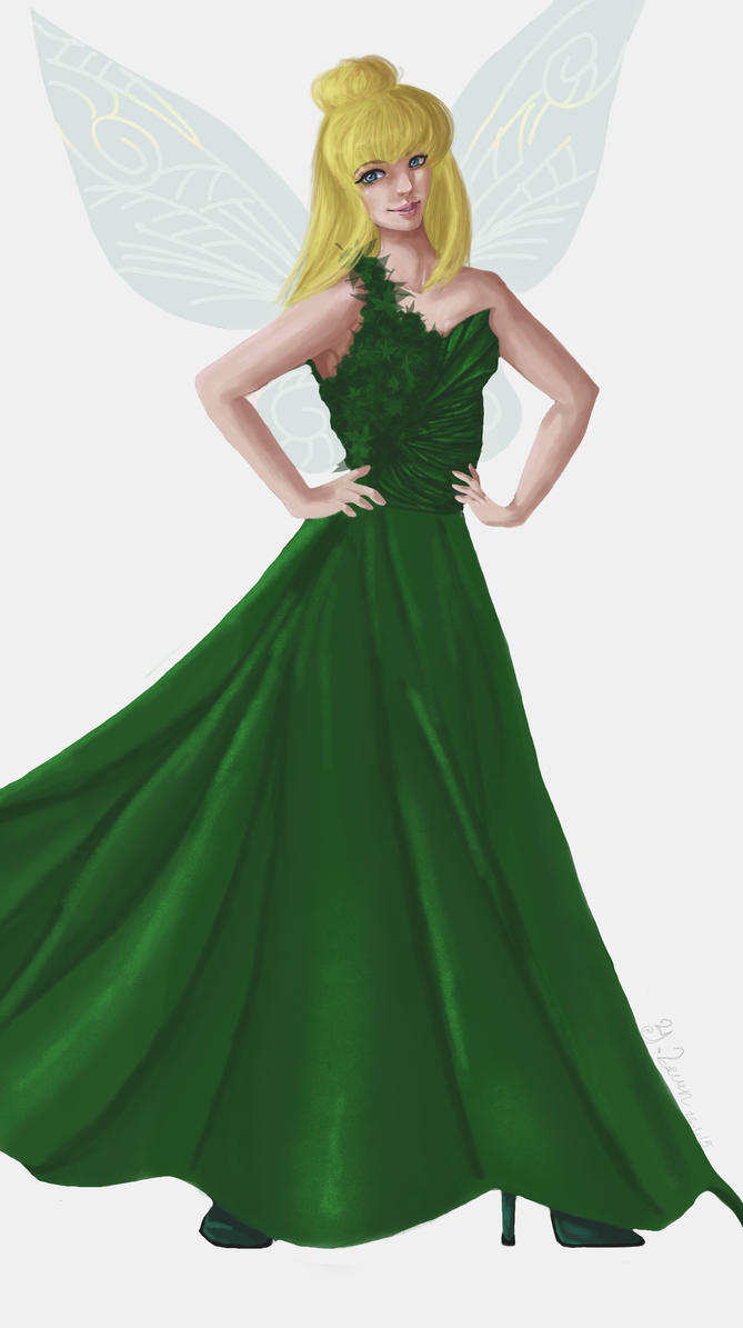 Tinkerbell Evening Dress by CarolinaSoul on DeviantArt
