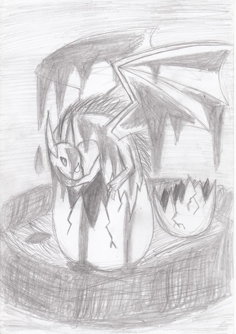 Dragon Hatchling by 3wka