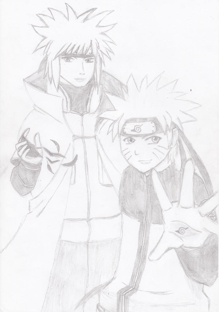 Naruto and his Father, the Yellow Flash by 3wka