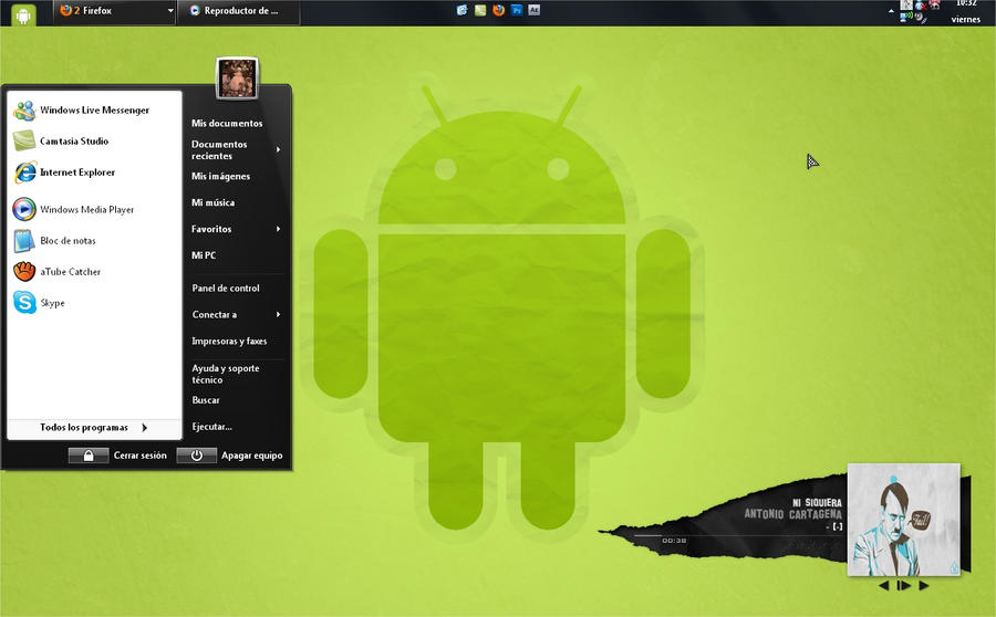 Theme Android for Windows XP by djeduseclen