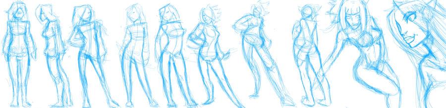 Random poses! by EymBee