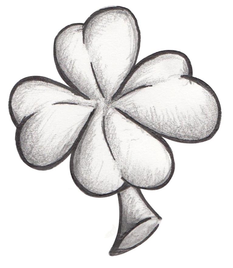 small clover tattoo by dfalkcreative on deviantart. Black Bedroom Furniture Sets. Home Design Ideas