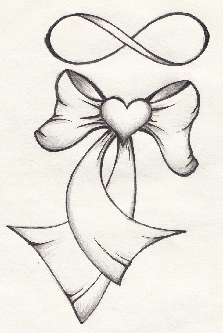 Ribbon Heart Tattoo by...