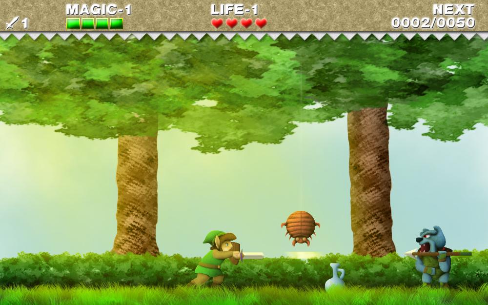 Zelda II HD by ReddFloxy