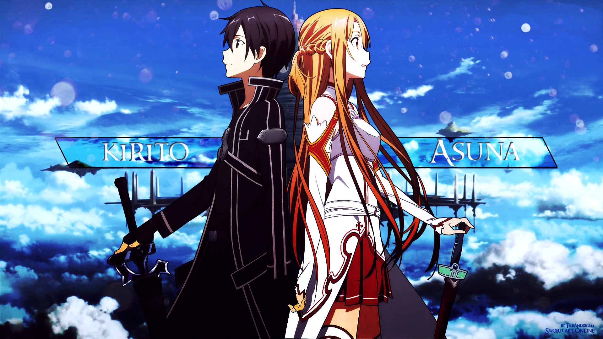 Sword Art Online Kirito and Asuna Wallpaper by TheAndreu44 ...
