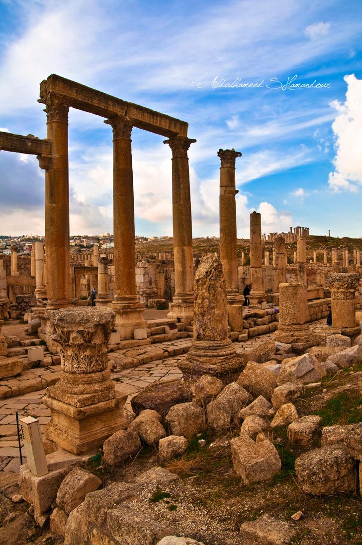 Jerash IV by ashamandour
