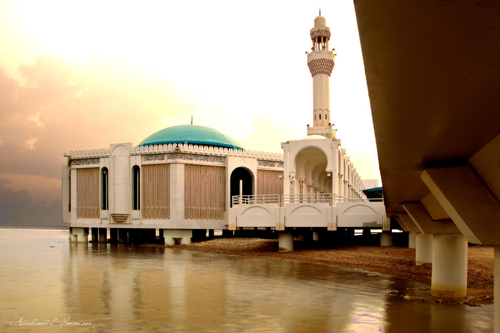 The Water Mosque by ashamandour Beautiful Masjid On Water
