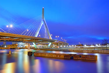 The Leonard P Zakim Bunker Hill Memorial Bridge by ashamandour