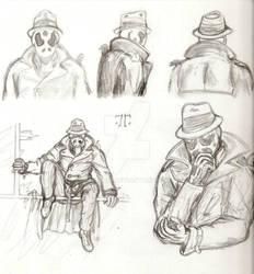 Rorschach - sketch study 1 by Nala15