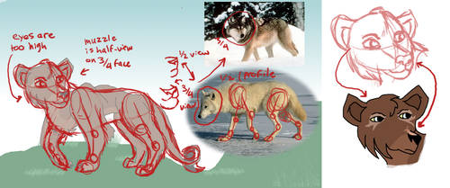 Redline Wolf-Lion hybrid by Nala15