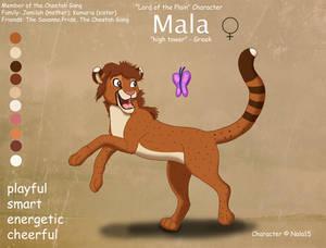Mala Ref Sheet - My Sister's Fursona
