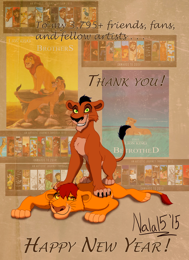 Pinned Ya! - Thank you for 2015 by Nala15