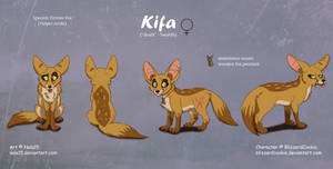 Kifa - Complex Ref Sheet Commission