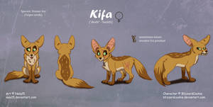 Kifa - Complex Ref Sheet Commission by Nala15