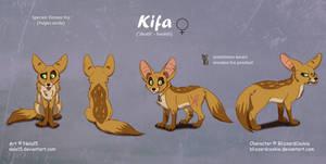 Kifa - Complex Ref Sheet Commission by Nala15