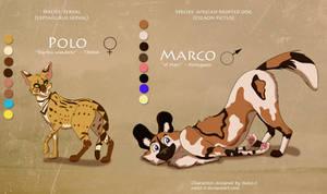 Serval + Wild Dog - Closed by Nala15