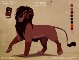 Haramu Ref Sheet (secret project OC) by Nala15