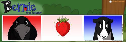 Bernie the Badger #12 - Strawberry Showdown Part 1 by Nala15