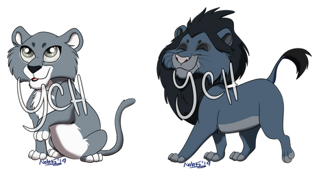 YCH - Big Cat Chibis 4/5 OPEN - Multiple Options!