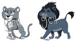 YCH - Big Cat Chibis 4/5 OPEN - Multiple Options! by Nala15