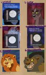 Adoption Auction [CLOSED] - Villain Lions