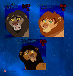 Adoption Auction CLOSED - Red Squadron Lions by Nala15